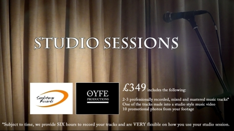 Studio Sessions - OYFE Productions - Sandstorm Records, Recording time for singers, bands and musicians