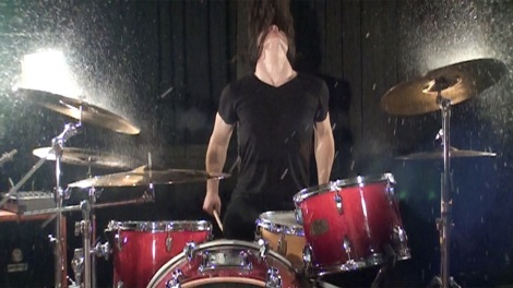 Jake Cook on the drums - The Overnight Angels