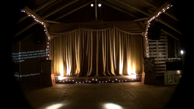 The Party Barn stage